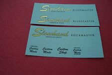 Custom Guitar Headstock Waterslide  Decals (Two) Metallic Inks
