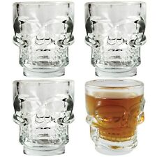 Kikkerland Skull Shot Glasses - Set of 4