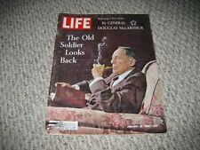 LIFE MAGAZINE - THE OLD SOLDIER LOOKS BACK DOUGLAS MACARTHUR - JAN 10, 1964
