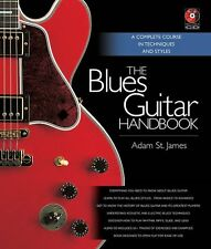 Adam St James Blues Guitar Handbook Learn to Play Guitar TAB Music Book & CD