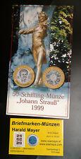 Österreich 50 Schilling 1999 Strauß Bimetall Hgh Blister  --Eiamaya