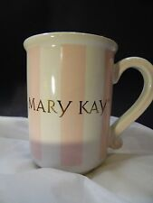 Collectible Mary Kay Pink White Striped Coffee Tea Cup Mug 8 oz Discontinued