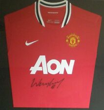 Wayne Rooney Signed Manchester United Football Shirt AON Sponsor Unframed