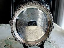 STUNNING    HAND CHASED  VINTAGE FINEST QUALITY SILVER  TRAY '' VINERS''