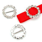 NEW 10X Diamante Effect Ribbon Buckle Sliders For Wedding Invitation Card Making