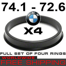 HUB CENTRIC RINGS 74.1 - 72.6mm BMW TO BMW (SET OF 4 RINGS) free WORLD shipping