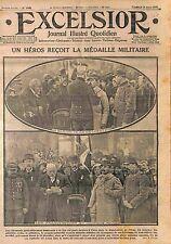 Remise Médaille Militaire Poilus Mutilé Sergent Cantorelle  Flers Orne WWI 1915