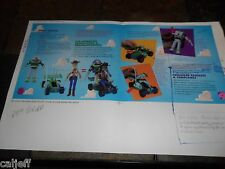 1996 17X11 PROOF PRODUCTION POSTER ROUGH FPO ART BURGER KING TOY STORY WOODY +