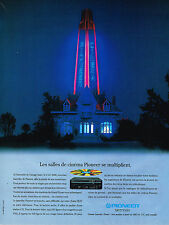 PUBLICITE  ADVERTISING   1991  PIONEER   magnétoscope CLD 2600 LASER