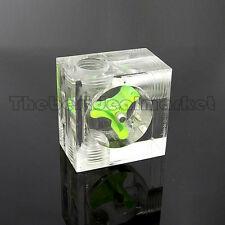 Water Cooling Flow Meter Acrylic 3 Ways G1/4 Threaded Without Barb USA Seller