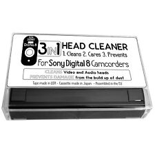 3in1 Video and Audio Head Cleaner Tape Cassette For Sony Digital 8 Camcorder