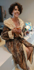 KVH by Kelly Van Halen Red Fox/Caramel Mink Faux Fur Reversible Robe Sm/Med