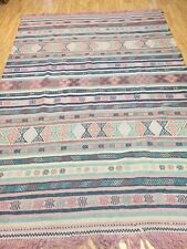 6' x 9' 1980's Persian Kilim Oriental Rug - Hand Made - 100% Wool