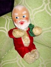 "Vintage Santa Claus Baby Doll Plays ""Jingle Bells"" Music Box Wind-up 1950's 60's"