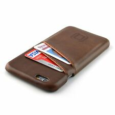 Iphone 6s Card Holder Funda Marrón De Cuero Cartera Slim profesional cubierta de parachoques