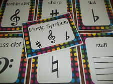 9 Laminated Music Symbols Posters.  Full Page Classroom Charts.  8.5x11.   Music
