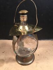 Boat Maritime Train Brass And Glass Lantern Vintage Overall Nice Rare !