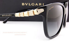 Brand New BVLGARI Sunglasses 8136B 501/8G Black/Grey Gradient For Women Size 57