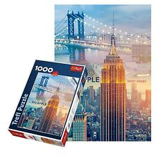 Trefl 1000 Piece Adult Large New York Big Apple Bridge Floor Jigsaw Puzzle NEW