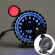 "Auto Car Tachometer Gauge Tacho Meter 4.9"" Adjustable 11K RPM Shift Lighting"