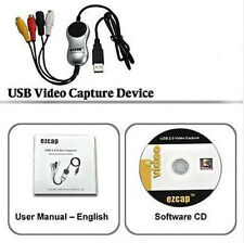 Ezcap USB to 3 RCA Composite S-Video TV VHS DVD Gamebox Video Capture PC Adapter