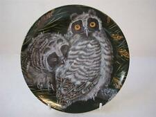WEDGWOOD THE BABY OWLS LONG-EARED OWL CHICKS PLATE