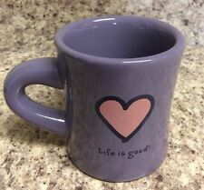Life is Good Home DO WHAT YOU LIKE Purple Ceramic Diner Style Coffee/Tea Mug/Cup