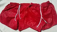 2 Shiny Nylon Wetlook Glossy Plastic Look  Thin Slippery  Shorts Size XL Soffe