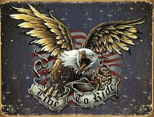 Live To Ride Eagle Bike Week  Motorcycle Harley Indian Sturgis Metal Tin Signs