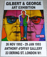 Gilbert and George - Art exhibition   RARE 1993 Split  ART EXHIBITION POSTER