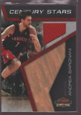 ANDREA BARGNANI 2010-11 PANINI THREADS GAME USED JERSEY PATCH KNICKS /399 $12