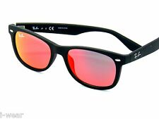RAY BAN kids sunglasses RJ 9052S MATTE BLACK/RED MIRROR 100S6Q JR 9052