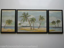 Beach Bath Wall Decor Plaques Spa Style pictures palm trees ocean