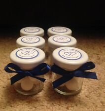 Personalised Miniature Jar Wedding Favours x 50 in any colour theme NO SWEETS