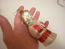 Vintage Christmas Tree Ornament - Praying Child Boy Girl Thin Glass Hand Painted
