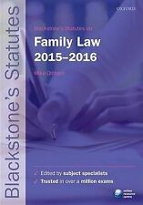 Blackstone's Statutes on Family Law: 2015-2016 by Oxford University Press...