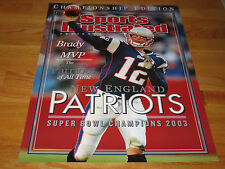 TOM BRADY Super Bowl MVP 2003 Champions PROMO Sports Illustrated Display Poster