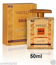 50ml Yardley London Gold After Shave Lotion Post Shave Lotion Classic Fragrance