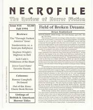 NECROFILE #14 THE REVIEW OF HORROR FICTION - 1994 fanzine, reviews of Tanith Lee