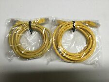 QTY LOT OF TWO (2) 6 FOOT YELLOW ETHERNET CABLES! NEW! L@@K! INTERNET HOOK CABLE