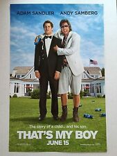 THAT'S MY BOY 11x17 PROMO MOVIE POSTER
