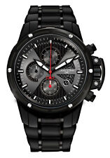 Jorg Gray Mens JG8500-24 Black Dial Black Stainless Steel Band Stainless Watch