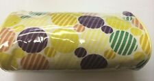 Joan Rivers Beauty cosmetic bag yellow with color circles design