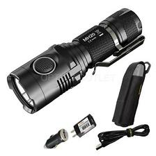 2015 Nitecore MH20 1000 Lumen Compact USB Rechargeable LED Flashlight & Adapters