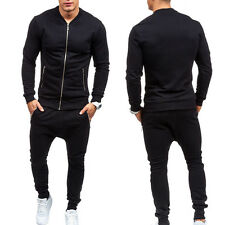 Men Gym King Full Tracksuit Sweat Top & Skinny Slim Joggers Jogging Bottoms Set