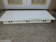 RARE Faux Bamboo Dresser TOP or Floating Desk Table Hollywood Regency Wicker