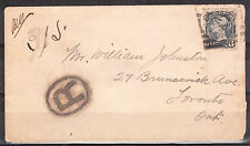 8c Small Queen Registered cover IROQUOIS ONT Square cancel OC 7, 1895