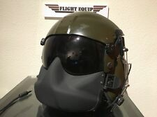Hgu-56 Gentex pilot flight helmet with maxillofacial mask.
