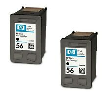 2 HP #56 Black Genuine Ink Cartridges NEW BUY NOW