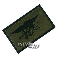 MILITARY ARMY Patch Iron On Embroidered Cloth US Navy SEAL Team Trident